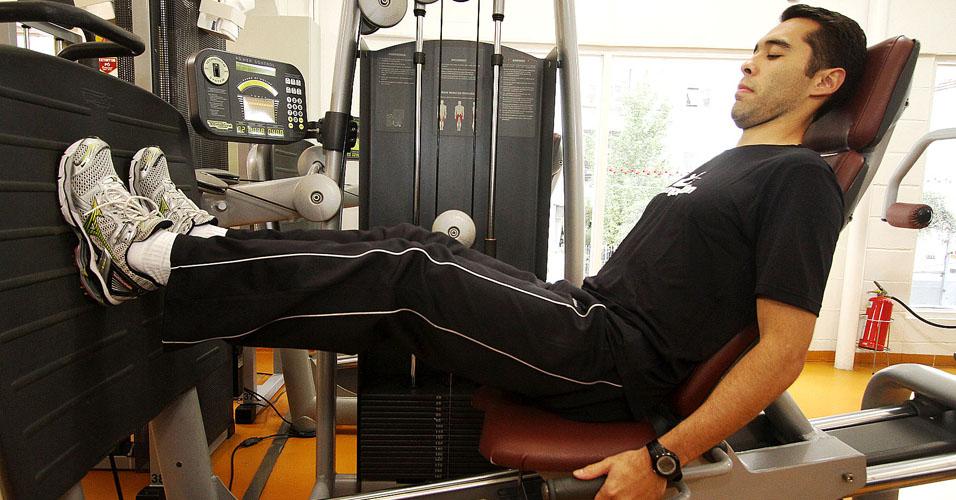 Treino A: leg press horizontal