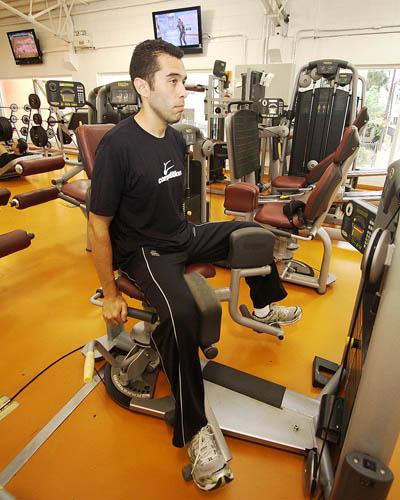 Treino A: cadeira adutora