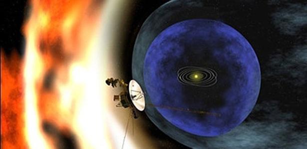 A Voyager está se aproximando da fronteira da bolha de partículas carregadas emitidas pelo Sol
