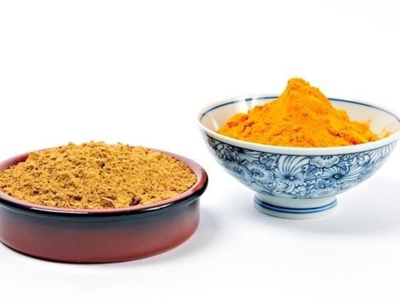 Condimentos para fazer curry