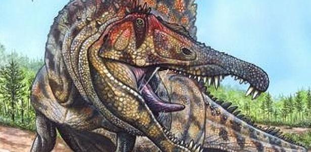 Ilustração mostra como deveria ser o dinossauro Oxalaia quilombensis; veja outras fotos