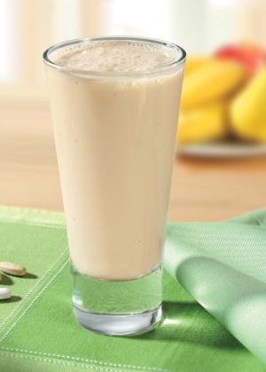 O shake pode ser associado a uma salada para as pessoas que não se sentem satisfeitas sem a mastigação