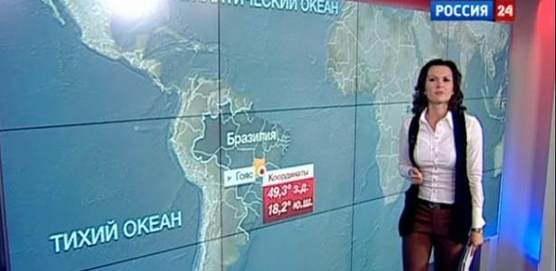 Reportagem no canal de TV Vesti mostra que a sonda teria caído em Goiás