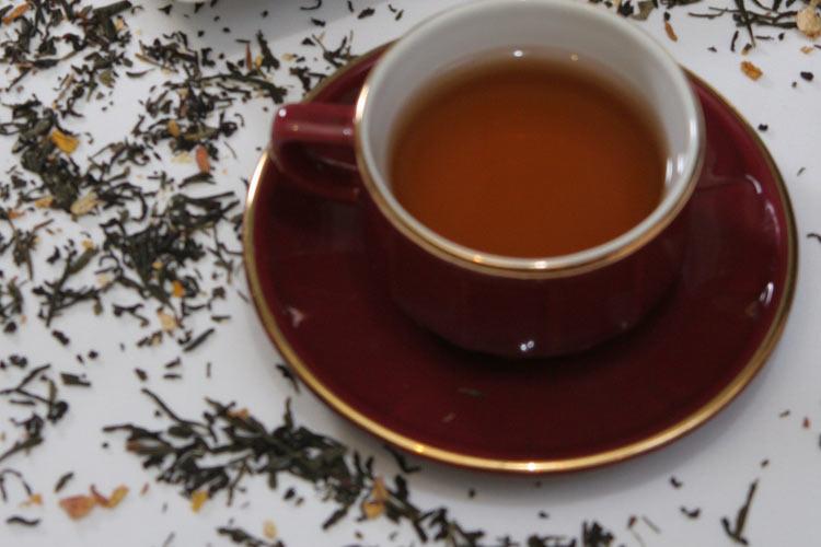 Chá preto e verde
