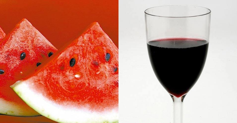 Vinho e melancia