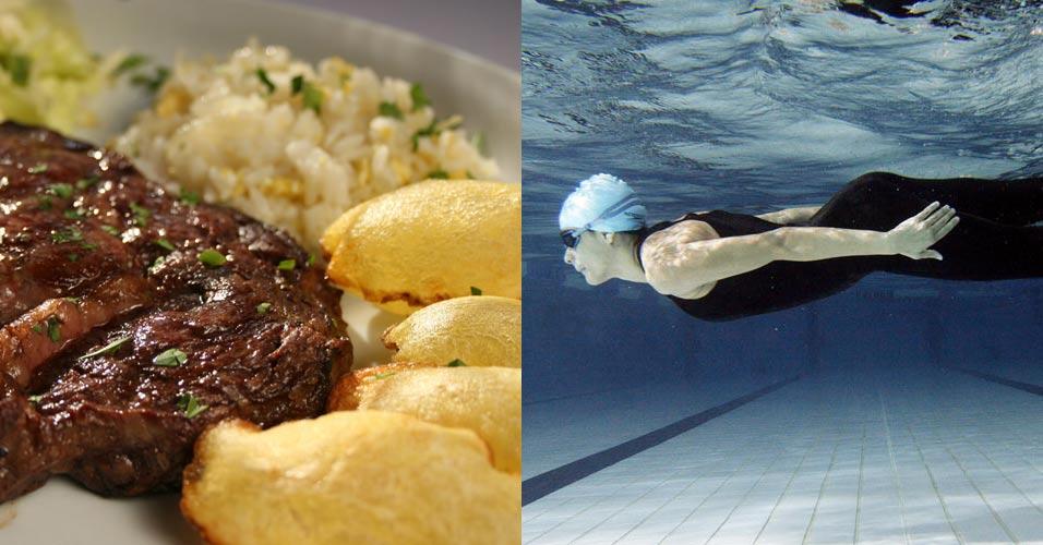 Mergulho e comida