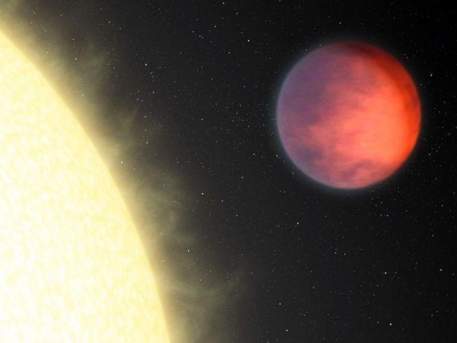 Parte mais quente de planeta longe de sol