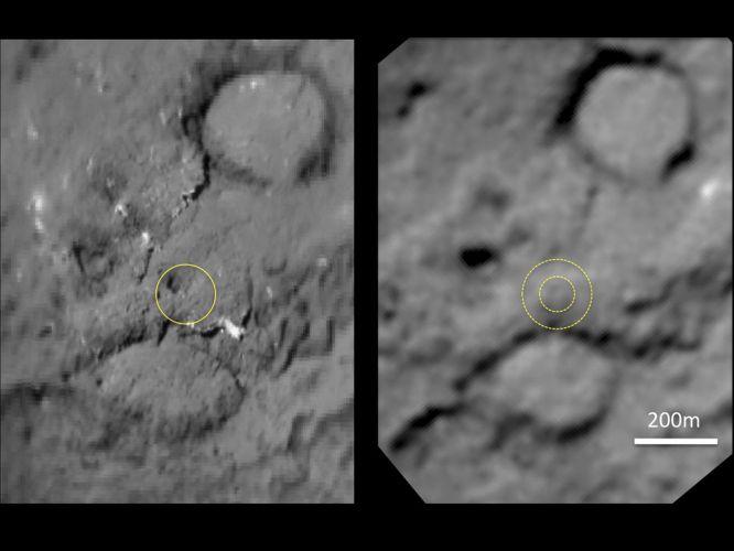Cratera no cometa