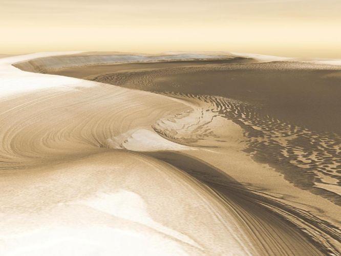 Cânion em Marte