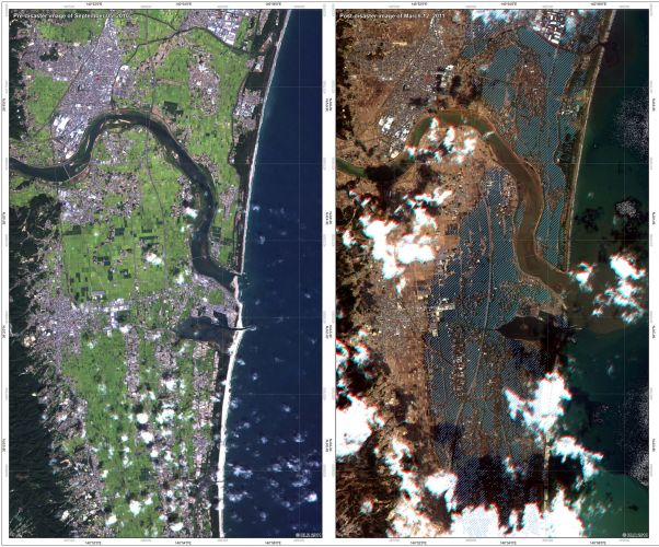 Antes e depois do tsunami