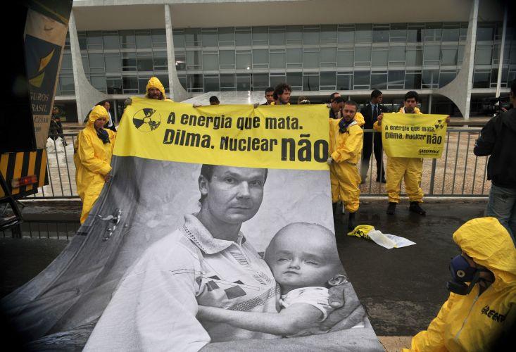 Protesto contra energia nuclear