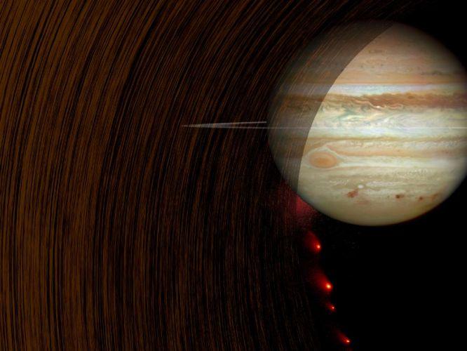 Anéis de Saturno e de Júpiter