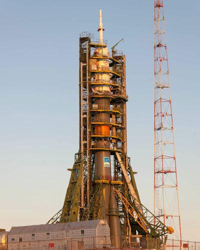Soyuz pronta para ser lançada