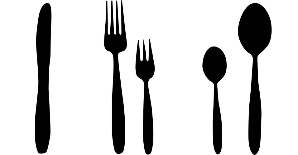 Garfos maiores = menos comida