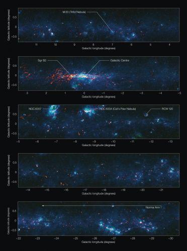 Novo mapa da Via Láctea 1