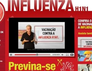 Marco Nanini participa da campanha publicitária do Ministério da Saúde sobre a vacina contra gripe suína; o material está disponível no site www.vacinacaoinfluenza.com.br