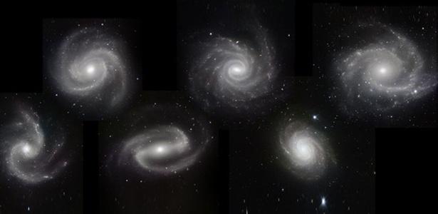 Veja imagem ampliada das galáxias capturada pela câmera HAAWK-I