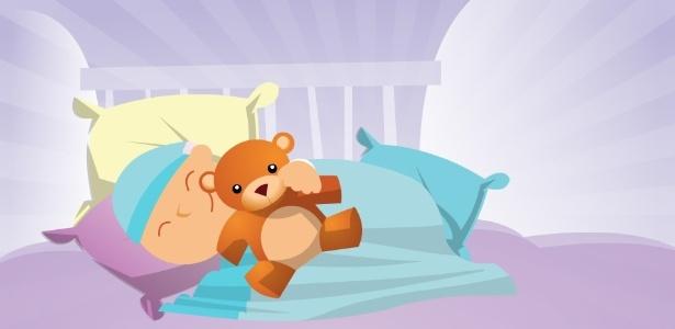 Muitas crianças não conseguem retomar o sono sozinhas ao acordar de madrugada