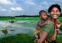A imagem vencedora do concurso, feita na Índia, evoca a relação entre a Mãe-Terra e seus filhos, seg